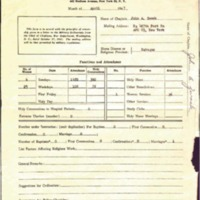 Monthly Report of Chaplain 1947 April