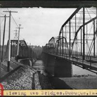 [Viewing two bridges, Dubuque, Iowa]