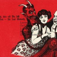 Krampus and Affectionate Couple