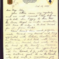 Letter to Msgr. Foley written on February 16th, 1947.