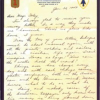 Letter to Msgr. Foley written on January 30, 1949