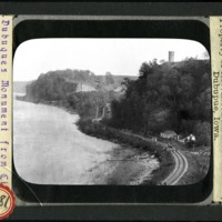 [View of the Julien Dubuque Monument and the Mississippi River]