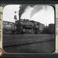 [A Large steam engine in an unidentified rail yard in Dubuque, Iowa]