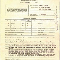 Monthly report of chaplain 1947 January