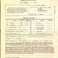 Monthly report of chaplain 1947 March